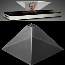 """3D Holographic Display Pyramid Projector Video For 3.5-6.5"""" Mobile Smart Phone"""