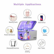 Portable UV Sterilizing Bag LED UVC Light Bag USB Sterilizer Box US Grey