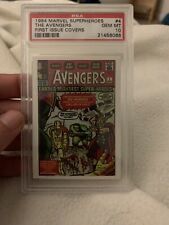 1984 Marvel Superheroes The Avengers First Issue Covers Card; Gem Mint RARE, PSA