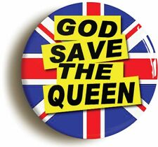 GOD SAVE THE QUEEN PUNK BADGE BUTTON PIN (Size is 1inch/25mm diameter)