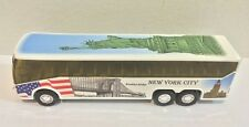 NYC Coach Bus with Statue of Liberty graphic Diecast Car Model NYC Souvenirs 6""