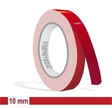 ZIERSTREIFEN - 10mm KARMINROT GLANZ 10m Auto DUNKEL Rot Stripe Boot 1cm Dekor