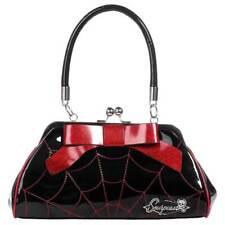 Sourpuss Spiderweb Floozy Handbag Red/Blk Gothic Retro Punk Pin Up Vintage