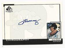 Julio Ramirez 2000 SP Top Prospects Chirography Cd.# JR, Sea Dogs