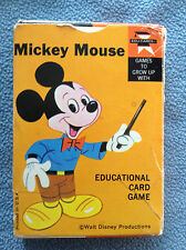 Walt Disney MICKEY MOUSE Edu-Cards Game Complete