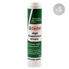 Castrol High Temperature Grease 5 X 400g Cartridge 2kg in Total