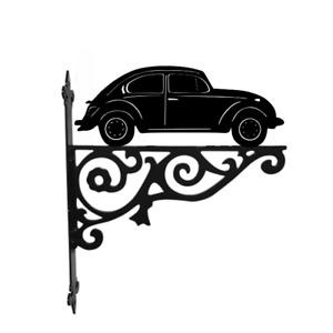 VW Beetle Car Metal Garden Hanging Basket Bracket Wall Mounted Decorative Garden