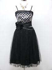 Cherlone Black Prom Ball Evening Bridesmaid Wedding Formal Gown Dress Size 12