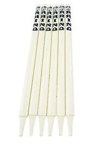 CE Rhino Cricket Wooden Stumps (White) - Set of 6