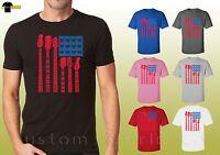 American Flag & Guitar Graphic t Shirt Cool Flag Design Unisex T-Shirt (15480d0)