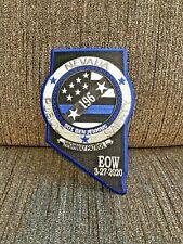 NEVADA HIGHWAY PATROL LAS VEGAS POLICE RAIDERS INAUGURAL SEASON RARE PATCH LE