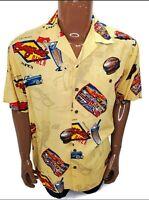 Tori Richard Mens Hawaiian Shirt Boogies Dinner Medium