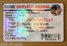 HOLOGRAM SERVICE DOG / PET ID CARD BADGE  FOR SERVICE ANIMAL PROFESSIONAL TAG 16