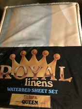 Vintage Royal Linens Queen Waterbed Sheet Set New in Package Pastel