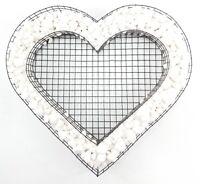 Grabschmuck Herz Gitter mit Carrara Kies Allerheiligen Allerseelen Grabdeko Deko