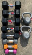NEOPRENE HEX DUMBBELL HAND WEIGHTS Lot 5LB 8LB 10LB SETS& 15 20 25 30 35 40Lb