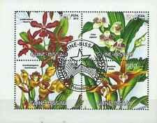 Timbres Flore Orchidées Guinée Bissau 4458/61 o (2012) lot 18066 - cote : 11 €