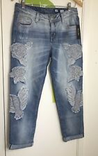 Miss Me Jeans Women's Boyfriend Ankle Size 26 Embroidered JB7665A NWT Orig $109