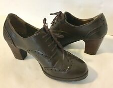 Sonoma Brown Lace Up Heeled Booties Ankle Boots Womens 7.5