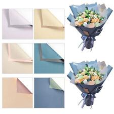 20Pcs Plastic Flower Gift Wrapping Paper Florist Art Wedding Bouquet Decor