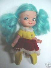 1960s Finger Ding Doll Remco-Sally Ice Skater-Blue Hair