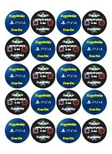 Personalised 20 x PS4 CupCake Toppers