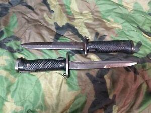 Lot of 2 original milpar M1 garand m5a1 bayonets korea ww2 vietnam m5