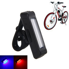 BLUE+RED 100LM COB LED Rear front Bike light USB Rechargeable Tail lamp 500mAh