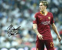 Foto Autografo Calcio Nicolò Zaniolo Roma Asta di Beneficenza Soccer Coa Signed