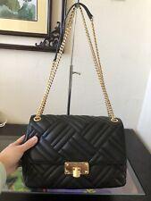 Michael Kors Peyton Large Leather Shoulder Bag - Black