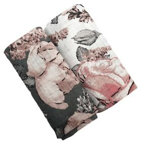 ✅2 PACK Muslin BABY SOFT 100% Cotton Cloths Reusable Nappy Inserts towel Bib