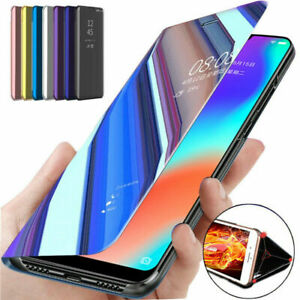 For Samsung Galaxy S20 FE S21 Ultra Plus Case Smart View Mirror Flip Stand Cover