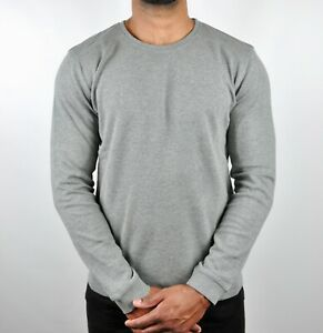 Calvin Klein Crew Neck Solid Sweatshirt Jumper - Grey