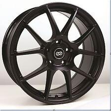 16x7 Enkei YS5 4x100 +38 Black Wheels (Set of 4)