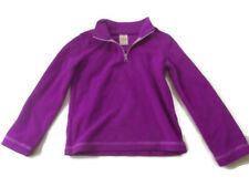 Faded Glory Girls Size Small Pullover Purple Zippered Neck Soft Long Sleeve Sz.6