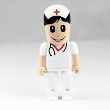 New White Doctor Nurse Model Pen Drive 8GB USB 2.0 Memory Stick USB Flash Drive