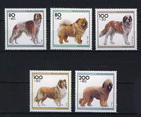 ALEMANIA/RFA WEST GERMANY 1996 MNH SC.B792/B796 Dogs