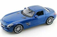 MAISTO 36196 MERCEDES BENZ SLS GULLWING diecast road cars silver blue red 1:18th
