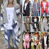 Womens Outwear Boho Irregular Long Sleeve Wrap Cardigans Vintage Loose Coat Tops