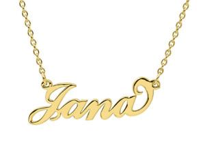 Carrie Namenskette aus 925/- Sterling Silber - Gravurschmuck - Wunschname