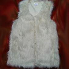 NWT Xhilaration Ivory Faux Fur Vest Sz XS