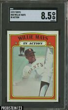1972 Topps In Action #50 Willie Mays New York Giants SGC 8.5 NM-M+ CENTERED