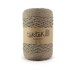 Crafting Cotton 6ply BEIGE New Cotton Knit Crochet Weave 220m washable
