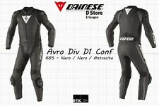 NEW - DAINESE AVRO DIV D1 2-PC CONF. MENS SUIT BLACK BLACK ANTRACITE EU 92