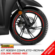 Adesivi Cerchi Honda SH 125 150 300 strisce adesive ruote colore ROSSO Rac. 2