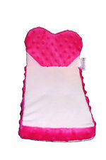 Build-A-Bear Pink Heart Fold Out Bed Chair Couch Futon Plush Smallfry Accessory