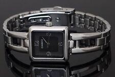 LTP-1346D-1C Black Ladies Watches Casio Steel Band Analog New