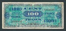 F.C. FRANCIA FRANCE , 100 FRANCOS 1944 , MILITAR , B/C+ (F+ ) , SUCIO , P.123a .