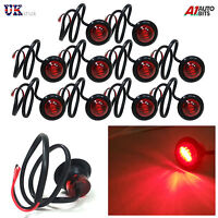 10 PCS 24V 3 LED SIDE REAR TAIL RED MARKER LIGHTS LAMPS TRUCK LORRY TRAILER