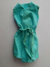 Vintage Barbie Fashion Bouquet #1511 Blue White Polka Dot Wrap Dress
